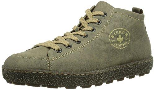 Rieker - Sneaker,Donna, Grigio (Grau (steam / 43)), 39