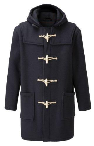 Mens Duffle Coat Wooden Toggles -- Navy -- 48