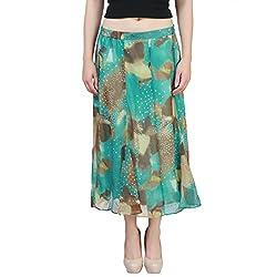 Mansi Collection Women's Skirt (MC_SK_2126_MU, Green, 4XL)