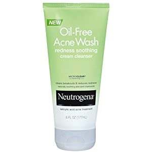 Neutrogena OilFree Acne Wash Cream Cleanser, 6.7 Ounce