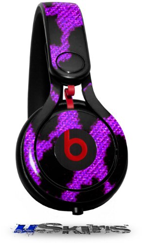 Purple Leopard Decal Style Skin (Fits Genuine Beats Mixr Headphones - Headphones Not Included)