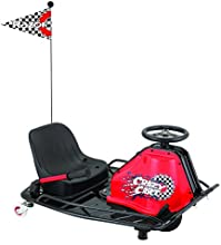 Razor Crazy Cart - Vehículo eléctrico para niños, color negro