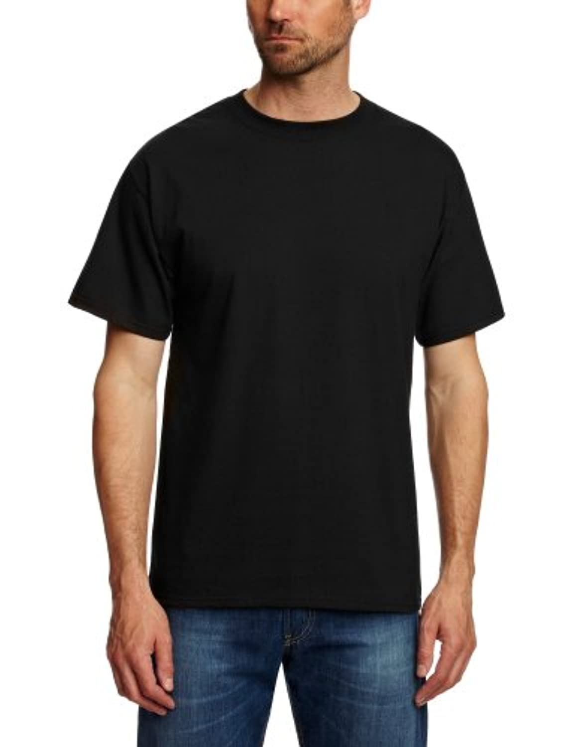 Hanes black t shirts xxl -  Hanes Mens Tagless Beefy Super Heavy Weight T Shirt Xxl Black