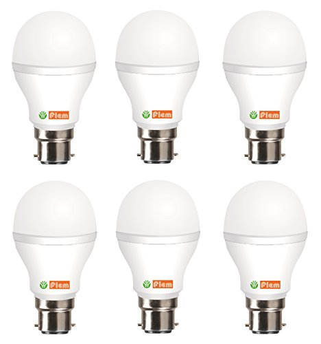7W Cool White LED Bulb (Pack of 6)