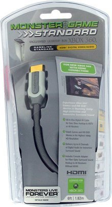 Monster Cable Gamelink HDMI Cable for Xbox 360 - 6 ft (Xbox 360 2008 Console compare prices)