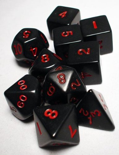 Koplow 10052 10-Set Htubeop - Black & Red