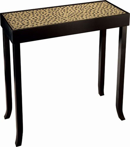 Cheap Console Sofa Hall Table – Cheetah Pattern Black Finish (VF_CN-CF3834)