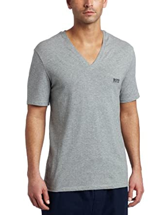 best service d3eca ac32b 大牌)HUGO BOSS Mens Stretch Short Sleeve V-Neck短袖V领