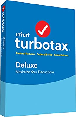 TurboTax Deluxe 2016 Tax Software Federal & State + Fed Efile PC/MAC Disc