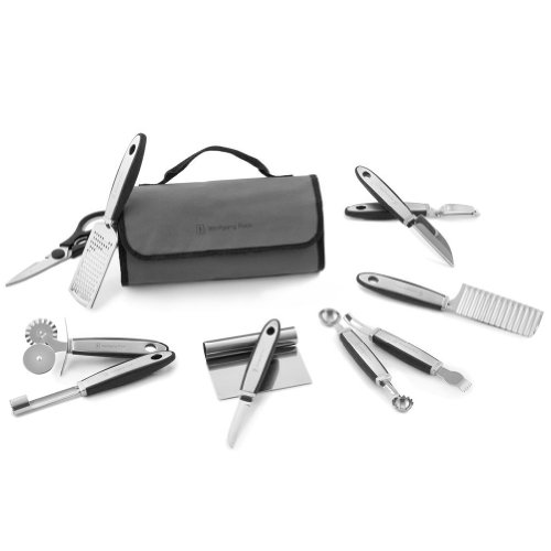 Wolfgang Puck 12 pc Complete Prep Set with Storage Case (Black)