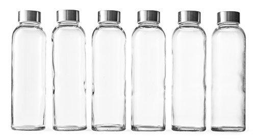 Epica 18-Oz. Glass Beverage Bottles, Set of 6 by Epica (Epica Glass Beverage Bottles compare prices)