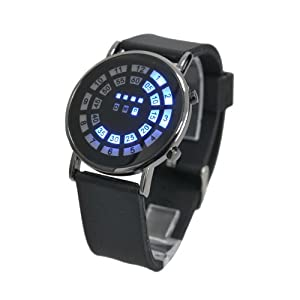 Blue LED Display Men's Digital Wrist Watch