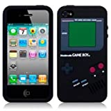 BLACK IPHONE 4 / IPHONE 4S GAMEBOY STYLE SILICONE CASE / COVER / SHELL / SKIN   PART OF THE GIZMO ACCESSORIES RANGE gadgets 