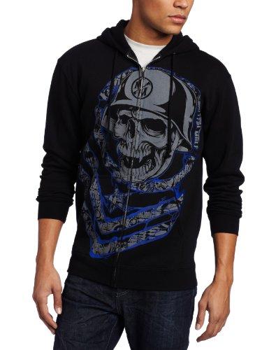 Metal Mulisha - Mens Big Moves Zip Fleece Hoodie, Size: Medium, Color: Black
