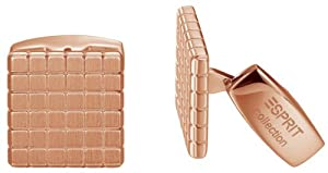 Esprit Collection Herren-Manschettenknöpfe Edelstahl Alpheios rose ELCF10706C000