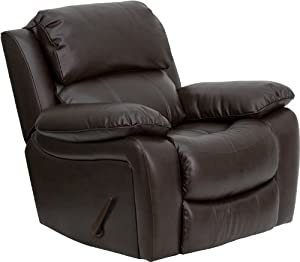 Flash Furniture MEN-DA3439-91-BRN-GG Dark Brown Leather Rocker Recliner