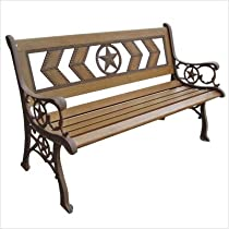Texas Park Bench Antique Beige