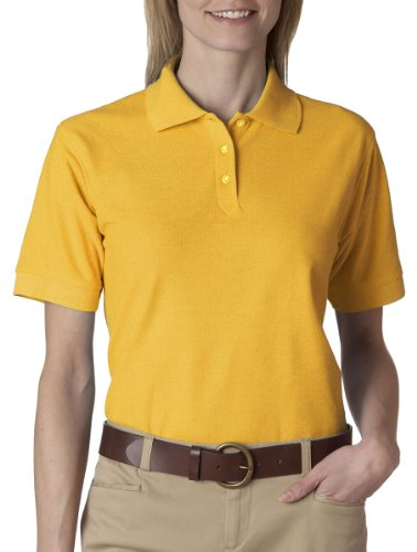 8541 UltraClub Ladies' Whisper Piqué Polo (Gold) (S)