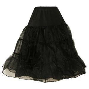 Rot Schwarz Weib Blau Pink Hoopless Hochzeit Bridal Petticoat Crinoline Unterrock