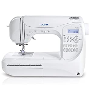 Brother PC420PRW Project Runway Electric Sewing Machine, 129 Built-In Stitches, Built-in Thread Cutter, Accessory Storage