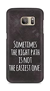 AMEZ the right path is not easy Back Cover For Samsung Galaxy S7 Edge