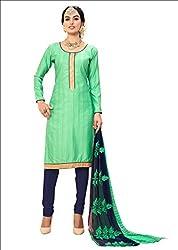 YOUR CHOICE Chanderi Cotton Pink Plain Women's Straight Suit DRMN107