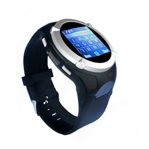 Absolute 1.5 Inch Touch Screen Quad-Bands Watch Mobile Phone,Watch Phone With Bluetooth,Mp3/Mp4/ Fm,Wap,Gprs Multi-Funtions (Black)