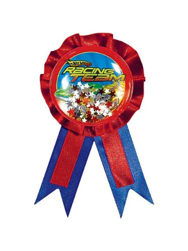 "Amscan Hot Wheels Speed City 6"" x 3-3/4"" Award Ribbon with Confetti"