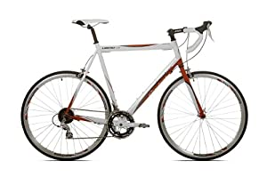 Giordano Libero 1.6 White/Red Men's Road Bike-700c (22-Inch Frame)