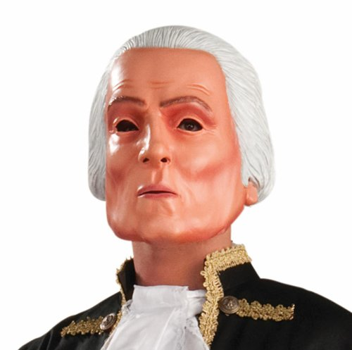 George Washington Latex Adult Mask Adult (One Size Fits Most Adults)
