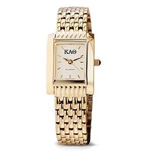 Buy Kappa Alpha Theta Ladies Gold Quad Watch with Bracelet by M.LaHart & Co.