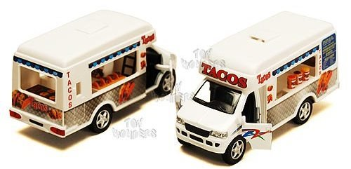 Taco Truck Die Cast Metal with Pullback Action