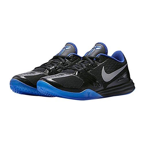 pictures of Nike Men's KB Mentality, BLACK/METALLIC SILVER-GYM ROYAL-PHOTO BLUE, 11.5 M US