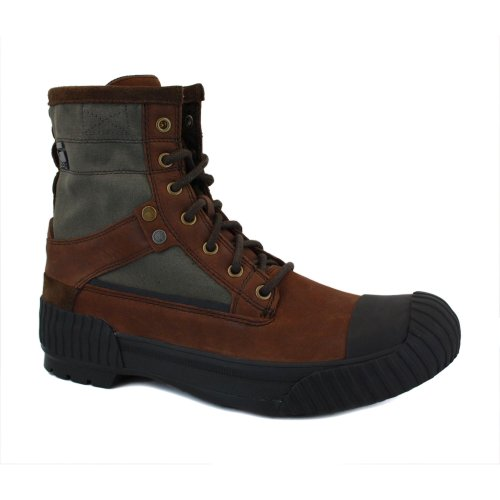 G-Star Raw Sherpa Marker Wax Mens Laced Leather & Textile Boots Dark Brown - 46