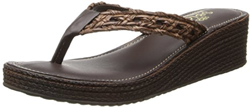 Sbicca Women's Altadena Wedge Sandal,Brown,8 B US