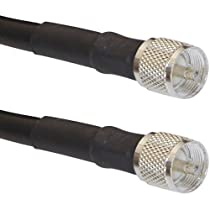 60 foot PL-259 Male MILSPEC RG-213 coaxial cable for Ham and CB Radio Transmission Antenna Line GMRS repeater and base M17/163A RG-213/U Coaxial Cable all Ham and CB Transmitters and antennas