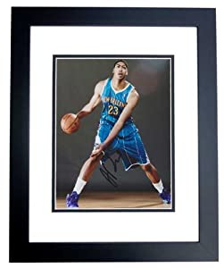 Anthony Davis Autographed  Hand Signed New Orleans Hornets 8x10 Photo - BLACK CUSTOM...
