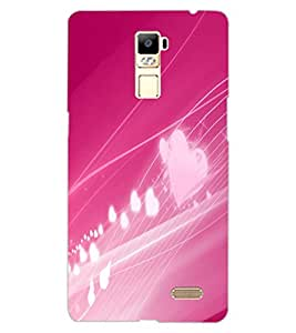 ColourCraft Love Design Back Case Cover for OPPO R7