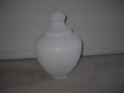 White Mini Macho Acorn Shaped Replacement Globe