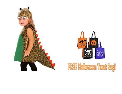 [CHILD'S HALLOWEEN COSTUME DINOSAUR infant's 18-24 mos Girl Boy + FREE TREAT BAG!!] (Halloween Costumes For Girls 22)