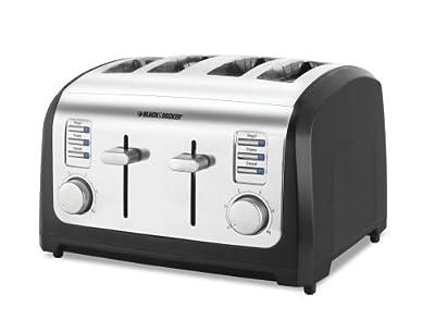 Black & Decker T4030 4-Slice Toaster (Certified Refurbished) by UnAssigned