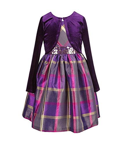 bonnie-jean-little-girls-sequin-waist-plaid-dress-with-cardigan-4