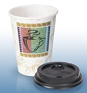Dixie Perfectouch Grab 'N Go 16 Oz Hot Cups with Lids - 96-count