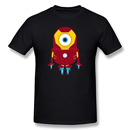 T-shirt For Mens Customized Iron Man Minions-4