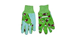 Childrens Gardening Gloves Green with Bee and Ladybird