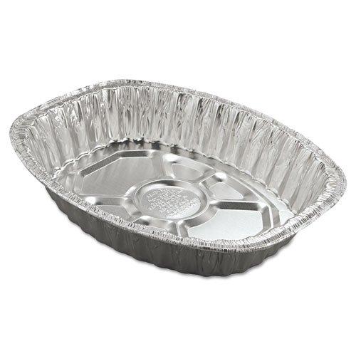 Handi-Foil Aluminum Roasting Container, Oval, 17 11/16 X 14 7/16 X 3 1/4, 25/Carton