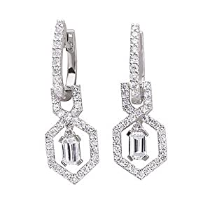 14k 1.30 Dwt Diamond White Gold Earrings - JewelryWeb