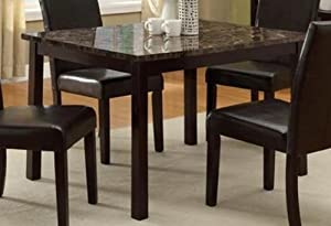 Pompei Dining Table With Faux Marble Top Tables
