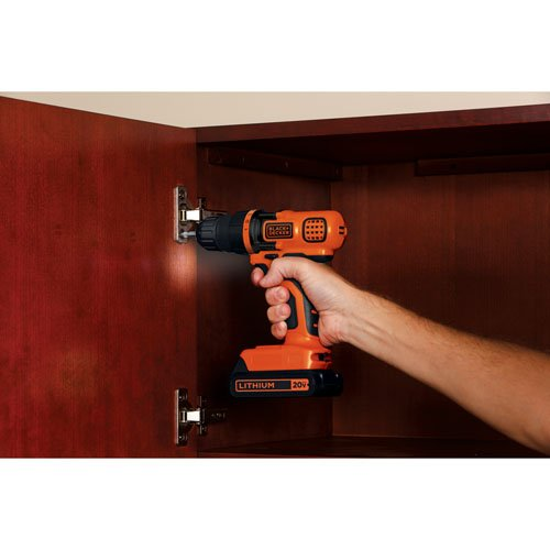BLACK+DECKER LDX120C 20-Volt MAX Lithium-Ion Cordless Drill/Driver via Amazon