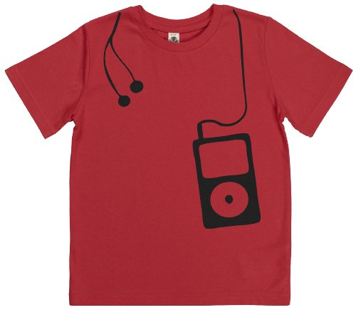 Phunky Buddha - Music Player Kid'S Boys T-Shirt 5-6 Yrs - Red front-628318